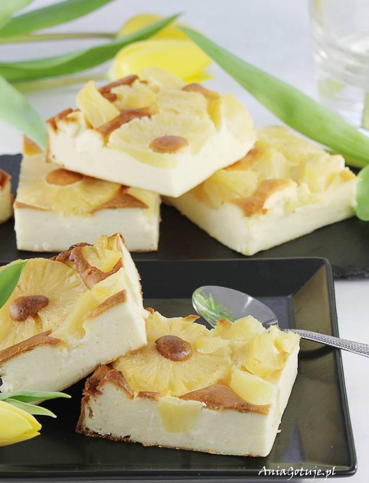 Prosty sernik budyniowy z ananasem, 7