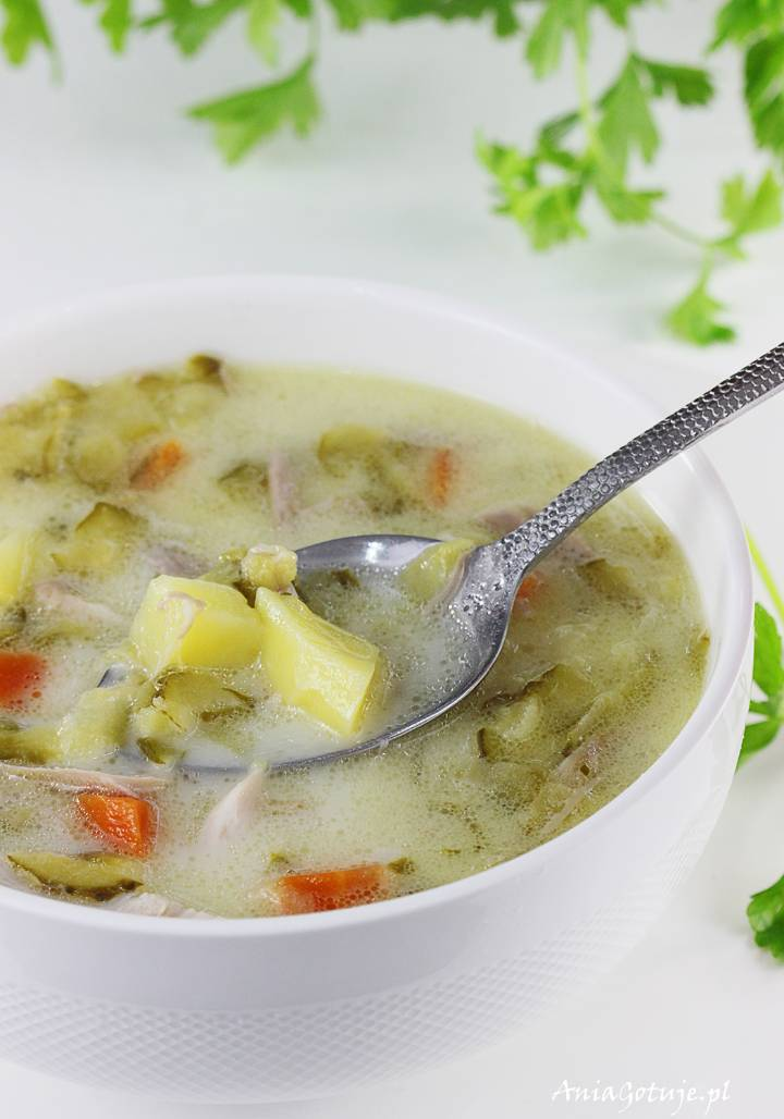 Zupa ogórkowa na rosole, 1