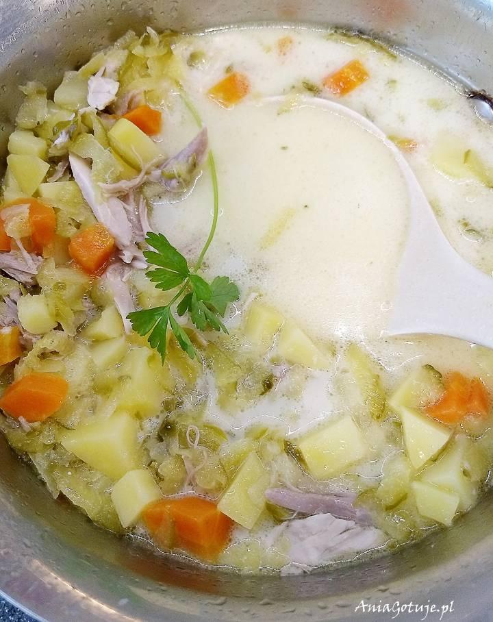 Zupa ogórkowa na rosole, 10