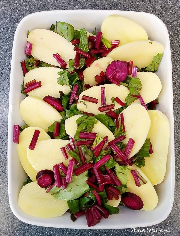 Botwina pieczona z ziemniakami i fetą, 4
