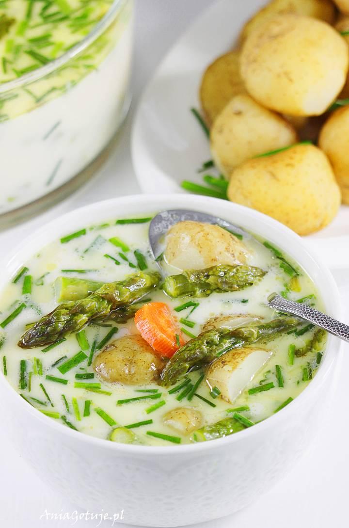 Zupa szparagowa z młodymi ziemniakami , 10