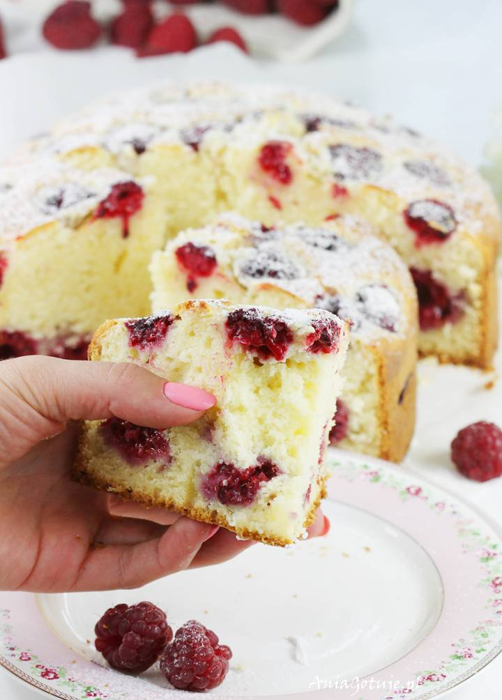 Ciasto z malinami, 1