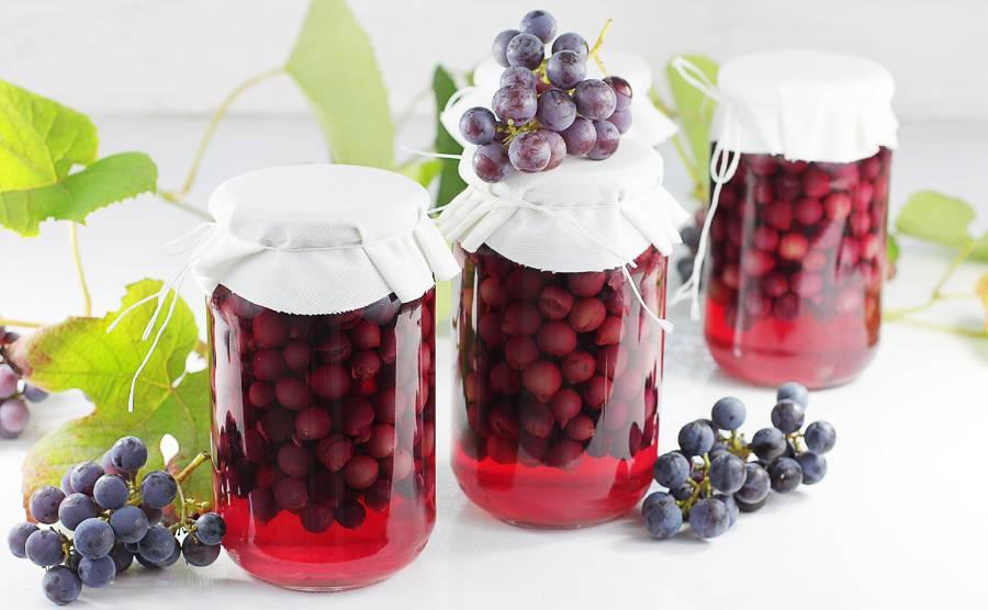 Kompot z winogron