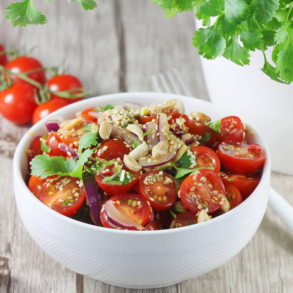 Birmańska sałatka z pomidorów
