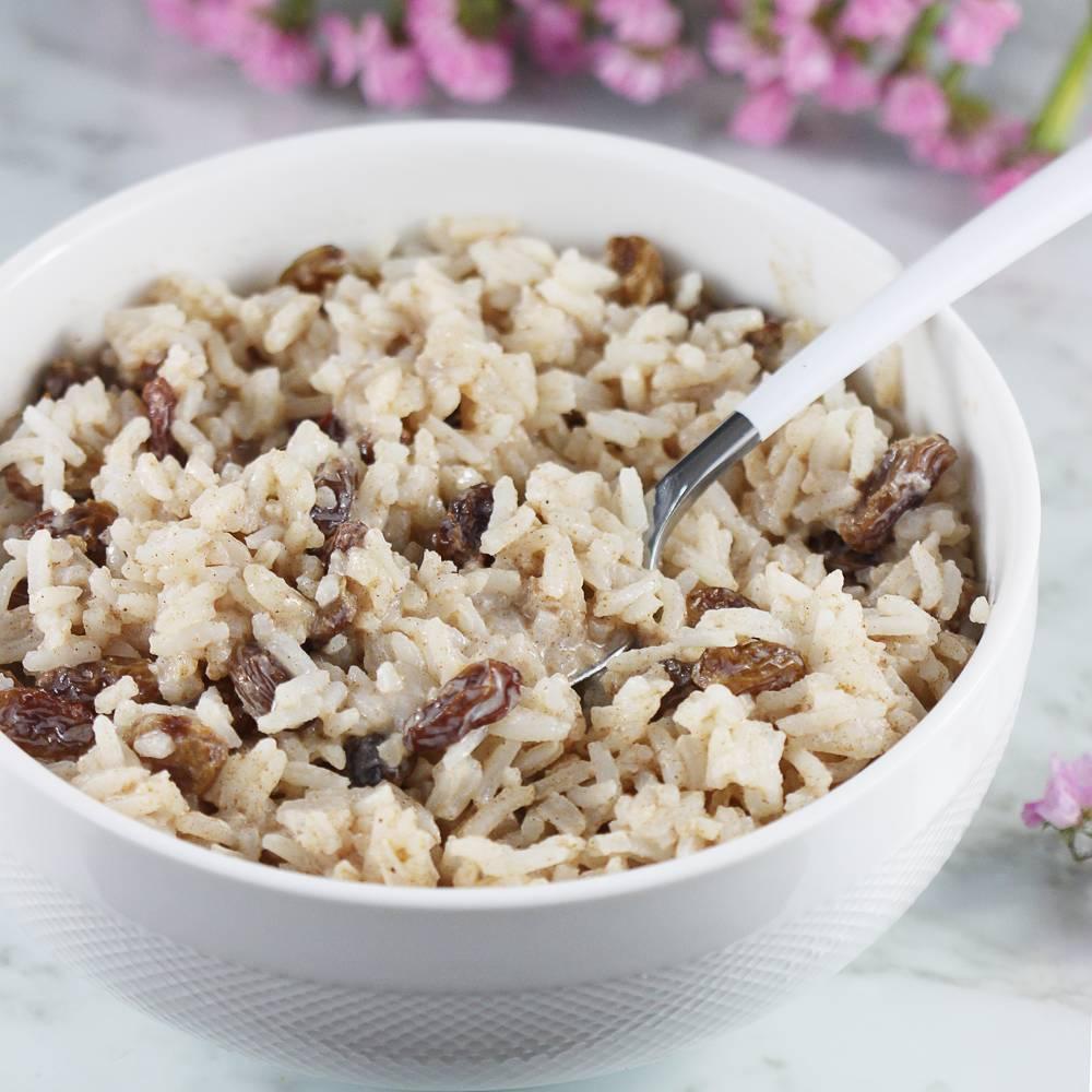 Ryż z mlekiem i rodzynkami