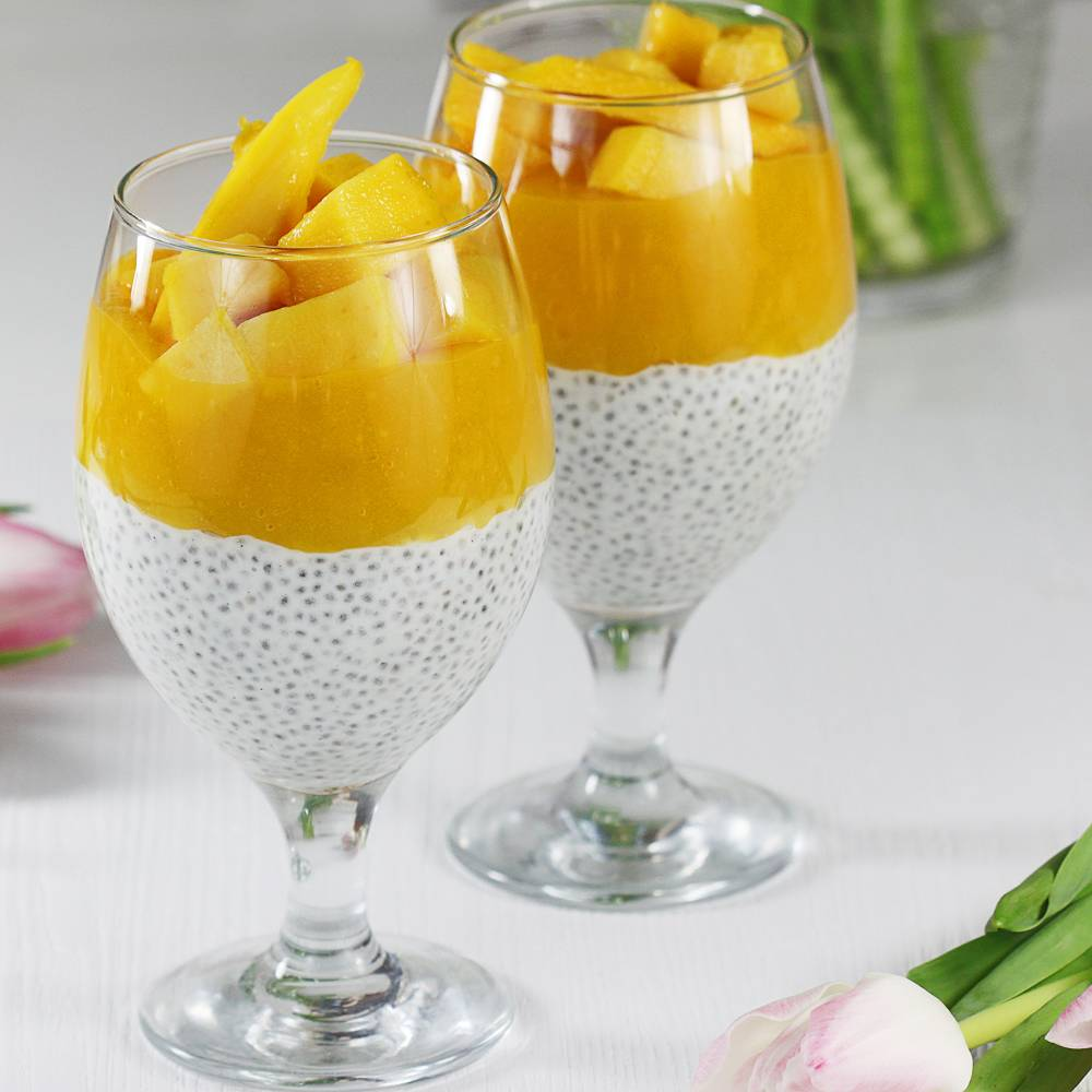 Pudding chia z mango